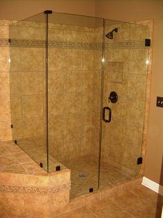 Bathroom,Exciting Frameless Glass Shower Doors Design For Modern Bathroom Decor: . Shower Door Handles, Bathroom Shower Doors, Glass Shower Doors, Tile Showers, Master Shower, Glass Doors, Shower Tub, Bathroom Faucets, Frameless Shower Enclosures