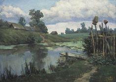 Денис Гаврилов. Озерцо. Бумага, пастель, 50х70 см. 2000 г.