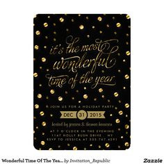 Wonderful Time Of The Year | Holiday Party 5x7 Paper Invitation Card