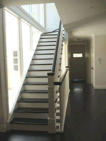 Our honed Chinese black slate was used by the architects on the floor and staircase in this new home. Available to buy at www.bellstone.com.au