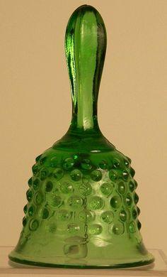 Fenton Glass Hobnail Green Handbell. $9.79,
