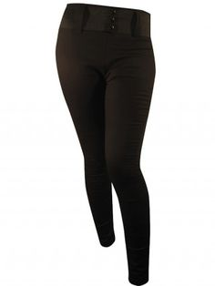 """Women's """"Solid"""" Waist Pants by Switchblade Stiletto (Black)"""