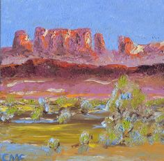 Hey, I found this really awesome Etsy listing at https://www.etsy.com/listing/243548850/desert-sunset-scene-oil-painting