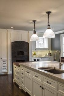 Lake Forest Chef's Kitchen  Custom Pizza Oven and Butcher Block  Kitchen  Contemporary  Transitional by Nicholas Moriarty Interiors