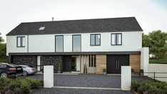 On the Avenue - McAleenan NI Home Interior Design, Exterior Design, Barn Style House Plans, House Designs Ireland, House Extension Plans, Courtyard House Plans, Home Exterior Makeover, House Extensions, House Entrance