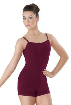 This cotton camisole unitard is perfect for class and the perfect base for your performance look.