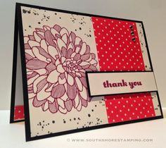 South Shore Stamping: Thank You Dahlia - PPA228  Stampin' Up! Card by Emily Mark SU demo Greenfield Park, Quebec www.southshorestamping.com