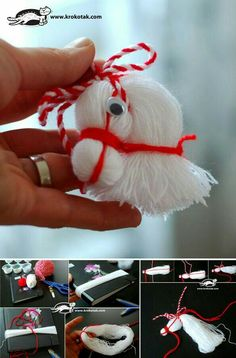 DIY-Pferdekopf-Verzierung vom Thread - My most creative diy and craft list Kids Crafts, Crafts To Do, Yarn Crafts, Christmas Ornament Crafts, Holiday Crafts, Christmas Crafts, Merry Christmas, Christmas Decorations, Yarn Dolls