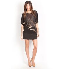 Gold Sequined Coverup Black, $55, now featured on Fab.