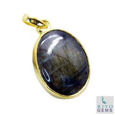 #Labradorite Gold Plated #Fashion #pendant #Artificial #RiyoGems #Jewelry #Jewellery #gems #gemstone Gold Pendant, Pendant Jewelry, Gemstone Jewelry, Diamond Jewelry, Jewelry Bracelets, Jewellery, Silver Rings Handmade, Sterling Silver Jewelry, Silver Earrings