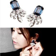 Blue Goldfish Diamond Statement Earrings