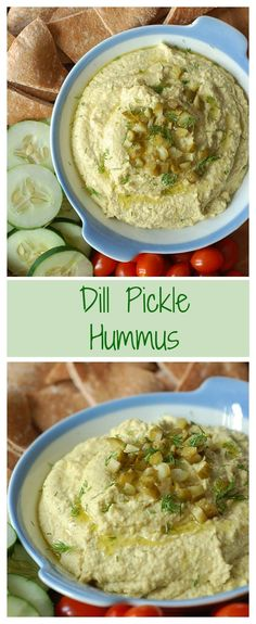 Pickles and hummus? Yes! This dip is creamy, briny, crunchy, and DELICIOUS. Gluten-free and vegan, too!