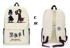Black Butler Kuroshitsuji Backpack School Bag Shoulder bag Computer bag C style