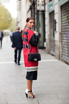 Tell me about your outfit, what you are wearing? - Im wearing a jacket from Moschino, pants from...