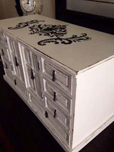 Vintage Large Jewelry Chest Hand Painted by ColorfulHomeDesigns, $110.00