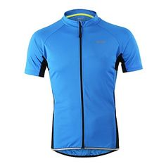 SUN Outdoor Cycling Mountain Bike Jersey Summer Mens Quick Dry Top SUA100  Blue L -- 595960a0d
