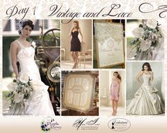 Day 1 Inspiration, Vintage and Lace Wedding  The Purple Pansy www.purplepansy.ca  You're Invited www.youre-invited.ca  Enchantment Bridal www.enchantmentbridal.com... Picture of You're Invited Invitations Enchantment Bridal Dresses & The Purple Pansy Floral Arrangements