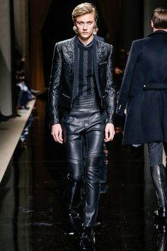 I like the look from the waist up. Balmain Fall 2016 Menswear Fashion Show