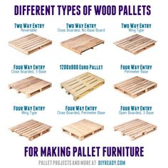 To Know If A Pallet Is Safe To Use Different types of wood pallets for making pallet furniture.Different types of wood pallets for making pallet furniture. Diy Wood Pallet, Diy Pallet Projects, Wooden Pallets, Wood Projects, 1001 Pallets, Outdoor Pallet, Pallet Art, Pallet Seating, Pallet Bench