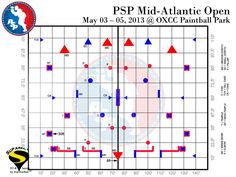 PSP Mid-Atlanic Open | May 3-5, 2013 | OXCC Paintball Park | Field Layout.