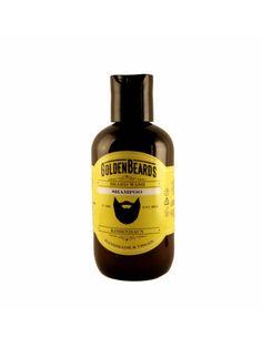 """El champú para Barba """"Golden Beards Wash Shampoo"""" contiene Lavanda Carshalton que ayuda a limpiar y proporcionar seguridad anti-bacteriana natural que te deja la barba libre de caspa."""