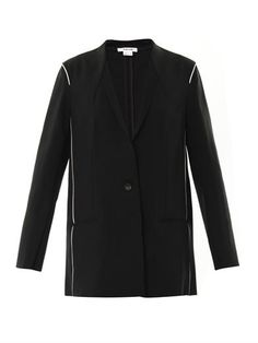 Helmut Lang Pierce Bonded-crepe Jacket, on sale for $186 at Matches. On the fall runways, blazers were slouchy and paired with looser trousers, like at Hermès. This version hits on the trend. Wear it with a camisole or, if you're daring, nothing underneath.