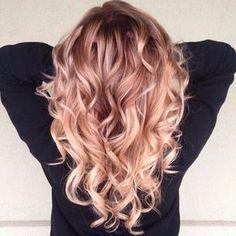 peach hair colo