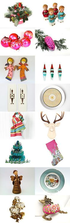 Colorful Christmas by Epsteam by pheinart on Etsy--Pinned with TreasuryPin.com