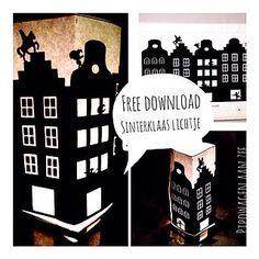 DIY Free download tealight cover *Sinterklaas Lichtje* | Pipowagen aan Zee | Bloglovin'