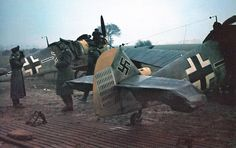 The Messerschmitt Bf 109, was a German World War II fighter aircraft that was the backbone of the Luftwaffe's fighter force.The Bf 109 first saw operational service during the Spanish Civil War (1939) and was still in service at the dawn of the jet age at the end of World War II (1945). It was one of the most advanced fighters of the era, including such features as all-metal monocoque construction, a closed canopy, and retractable landing gear. It was powered by a liquid-cooled, inverted-V12…