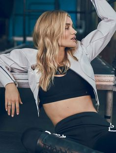 The athleisure trend shows no sign of losing popularity but we're not complaining, especially when we get to post great editorials like this. For ELLE UK January 2017 Rosie Huntington-Whiteley is photographed by Jem Mitchell and styled by Michelle Duguid in gorgeous athleisure gear.