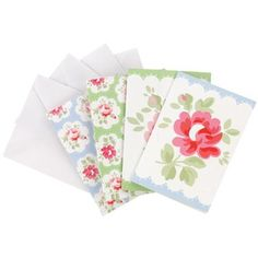 Provence Rose Set of 4 Mini Cards from Cath Kidston - love Kidston prints...I've even framed them and hung them on my bedroom wall.