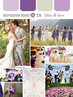 Inspiration Board #74: Lilac and Lace | Elegance & Enchantment