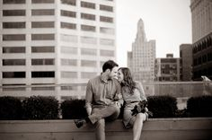 Kansas City Engagement Photos via History & High Heels by @Lacey Meier - Downtown Skyline