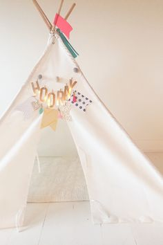 DIY Teepee Kit from We R Memory Keepers and Crate Paper designed by Diy Teepee, Diy Tent, Tent Decorations, We R Memory Keepers, Crate Paper, Paper Design, Clothes Hanger, Crates, Memories