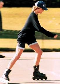 """pg 132 """" in the beginning of the 1990's, inline skating was one of the fastest growing leisure activities in the United States"""" (princess Diana rollerblading in Kensington Gardens)"""