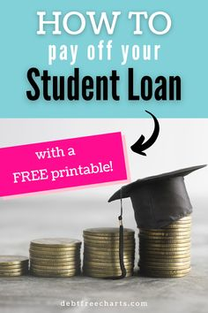 Track paying off your student loan debt with this FREE printable tracker. Make paying off debt fun and motivating with visual payoff progress. Paying Off Student Loans, Student Loan Debt, Debt Tracker, Free Charts, Cash Envelope System, Budget Binder, Debt Payoff, Debt Free, How To Stay Motivated