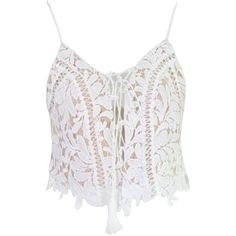 Beige Tassel Lace Up Front Zip Back Lace Bralette Cami Top ($18) ❤ liked on Polyvore featuring tops, cami tank, lace camis, lace-up tops, white tank tops and lace tank