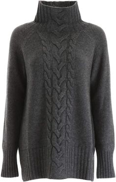 Shop 'S Max Mara Here is The Cube Cable Knit Pull and save up to EXPRESS international shipping! Max Mara, Lace Knitting, Knitting Patterns, Thick Sweaters, Fall Fashion Trends, Business Attire, Black Blazers, Curvy Style, My Style
