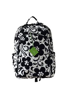 2b97eabe9c Vera Bradley Laptop Backpack (Updated Version) with Solid Color Interiors  (Night  amp