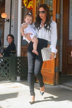 Victoria Beckham takes her daughter Harper Seven out and about in New York City
