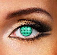 Aqua Mesh Contact Lenses (Pair)