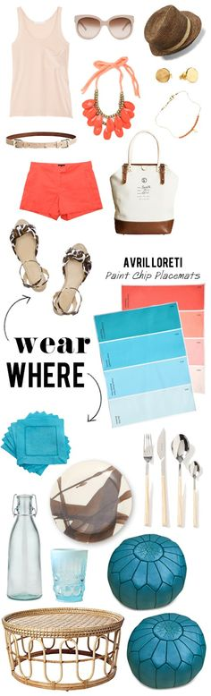 Lovely layout!!! where/wear :: summer picnic  collaboration with @Gaby Burger and @Because It's Awesome