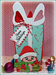Cricut Wild Card TCBJ Cute Christmas Birds CDD stamps The Scrappin Rabbit