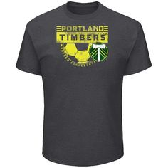 Men's Majestic Charcoal Portland Timbers Big & Tall Every Minute T-Shirt, Size: XLT, Grey Portland Timbers, Big & Tall, Put On, Charcoal, T Shirt, Shirt Men, Goal, Sleeves, Mens Tops