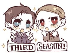 Haha We'd love a season Hannibal- dunno if this pic will do it :) Cute anyway Hannibal Rising, Nbc Hannibal, Hannibal Lecter, Mark Strong Movies, Kingsman Harry, Bryan Fuller, Cast Art, Sir Anthony, Deadshot