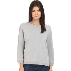 Bench Glorify Overhead Pullover Sweatshirt (Grey) Women's Sweatshirt (44 NZD) ❤ liked on Polyvore featuring tops, hoodies, sweatshirts, grey, gray sweatshirt, bench top, long tops, grey pullover sweatshirt and bench sweatshirt