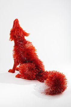 "Marta Klonowska (Polish, b.1964)  ""Shattered"" Glass Animal Sculptures"