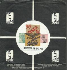 LONDON CANADA VINTAGE ORIGINAL COMPANY FACTORY 45 RPM RECORD SLEEVE SLEEVES