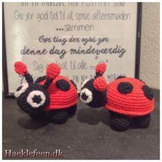 Start med i en mr 2 fm i hver fm Lady Bug, Crochet Toys, Crochet Baby, Baby Songs, Knitted Animals, Chrochet, Amigurumi Patterns, Crochet Designs, Double Crochet